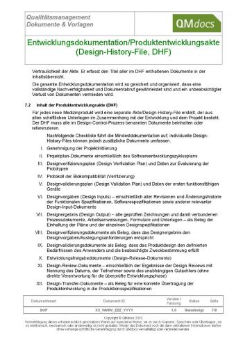 Design History File - DHF