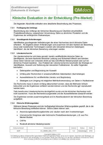 Klinische Evaluation in der Entwicklung (Pre-Market)